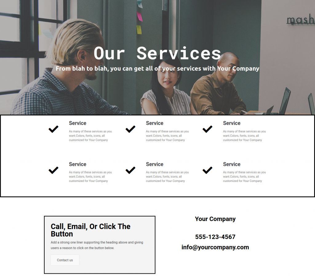 services template 1