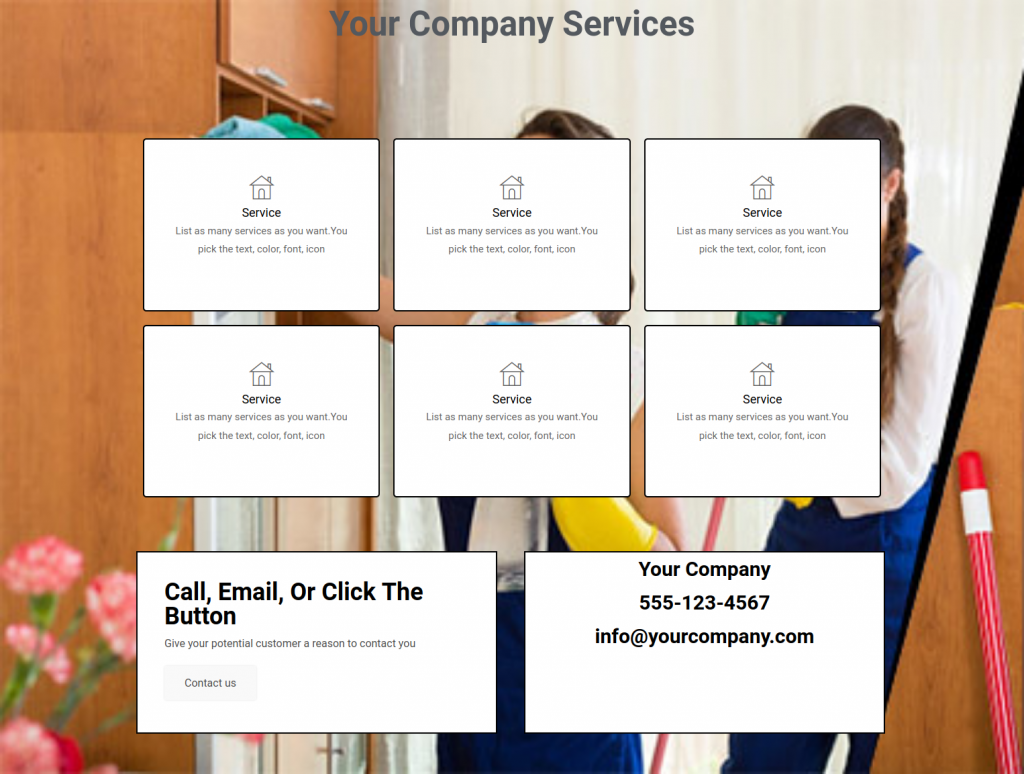 services template 3