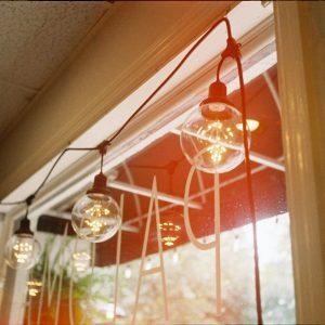 lights in window
