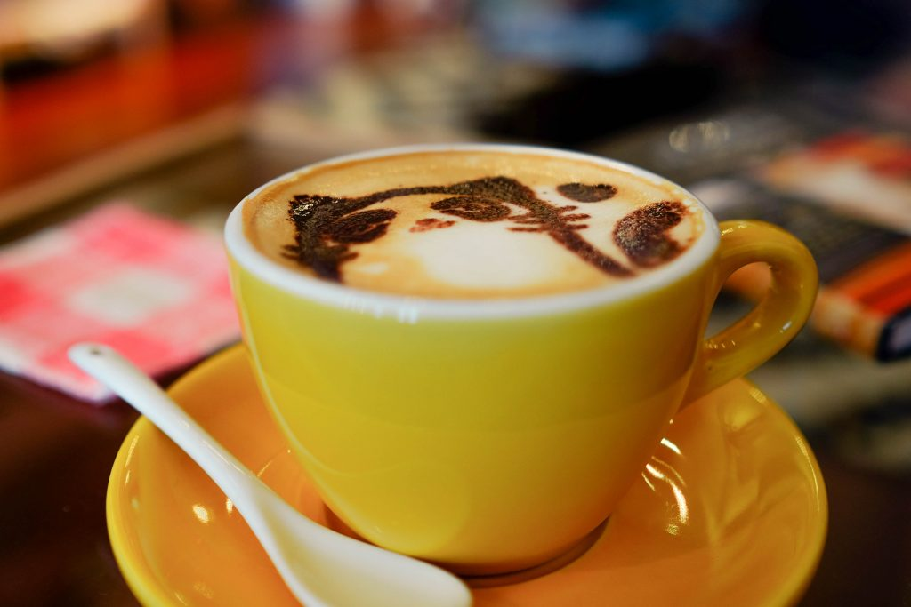 cappuccino in cup