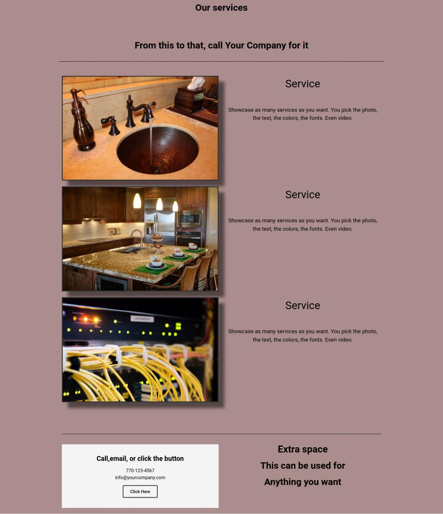 service template 2